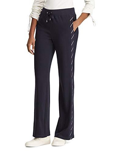 Ralph Lauren Womens Lakeisha Stripe Track Sweatpants Navy L