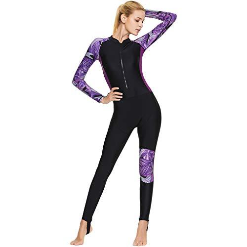 Zeraty Traje de Neopreno 3MM Mujer Hombre Wetsuit Adulto Swimwear Baño de Natación Una Pieza Traje UPF50+ H
