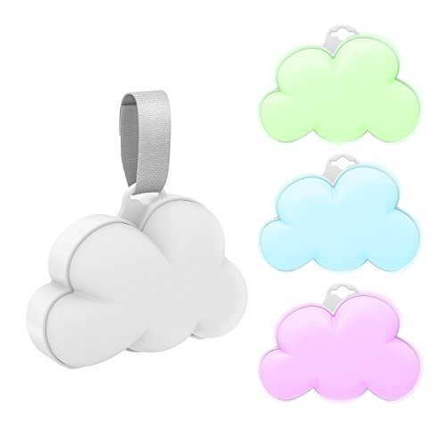 Pure Enrichment Baby Cloud Portable Sound Machine and Color-Changing Night Light - Plays 15 Soothing Sounds Including 5 Nature Sounds and 10 Lullabies to Create a Relaxing Ambiance for Your Baby