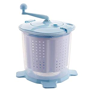 CCAN Huhn Machine à Laver Manuelle Portable à manivelle Mini laveuse à manivelle Non électrique pour Les dortoirs de Camping Apartments College Rooms, Bleu