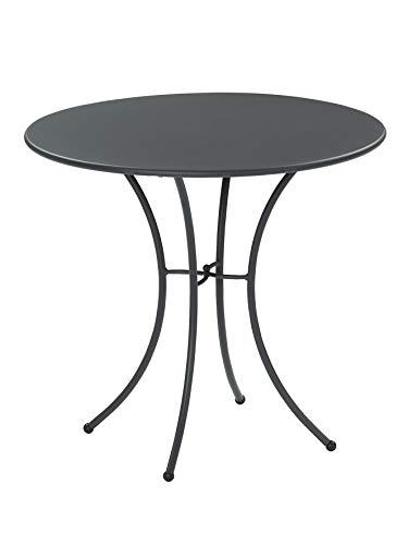 tavolo da giardino emu EMU Tavolo Esterno Pigalle 906 Diametro 80 CM Colore Grigio Antico