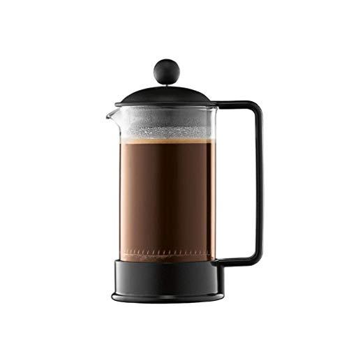 Bodum BRAZIL Coffee Maker (French Press System, Permanent Stainless Steel Filter - Black