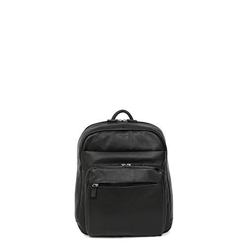 Hexagona – Rucksack aus Rindsleder Komfort, Schwarz - Schwarz  - Größe: Einheitsgröße