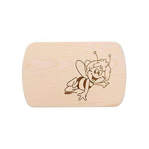 Brink Holzspielzeug Frühstücksbrettchen Frühstücksbrett Biene Maja mit kostenloser Gravur Vesper Holz Namen Brett neu