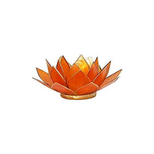 Orange (2. Chakra Lotusblüte, Capiz-Muschel Teelichthalter