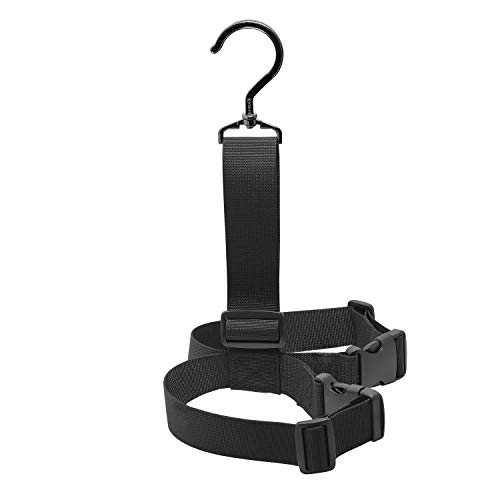 SAMSFX Fishing Wader Boot Hanger Hanging Strap Belt with Swivel Hook