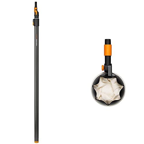 Fiskars Teleskop-Stiel für QuikFit Werkzeug-Köpfe + Obstpflücker QuikFit Stiele, Werkzeugkopf