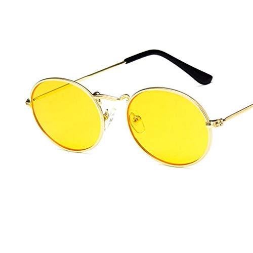 BABIFIS Gafas de Sol Estilo Retro, Gafas de Sol para Hombre y Mujer, Gafas de Sol elípticas de Metal clásico