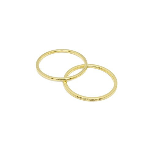Lowest Price! Porcelynne Premium Quality Gold Metal Alloy Replacement Bra Strap Ring - 1 (25mm) Ope...