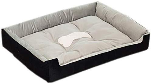 All Seasons, anti-slip bed voor honden, antislip bed voor huisdieren, accessoires voor dieren, anti-bont, voor grote honden, gemakkelijk te reinigen, slaapbank, duurzaam, zwart (maat: L 80 x 60 cm), XXL(120x100cm)