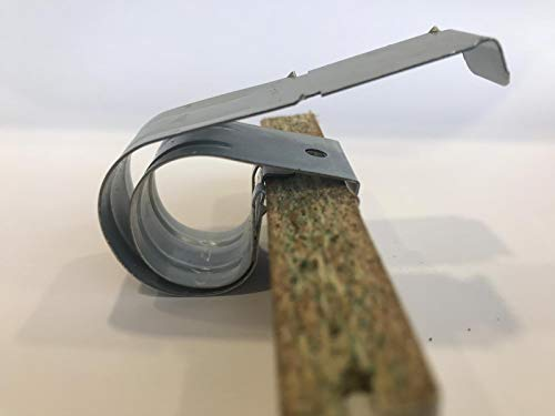 Ironico 8 Stück Universal Premium Sockelhalter für 15-22 mm Küchensockel Qualität Sockelfeder Halter Befestigung an für Sockelleiste Küche Unterschrank Blende Klammer Sockel Möbel Fußleiste