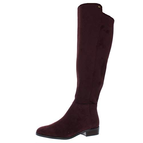 Michael Michael Kors Women's Knee High Bromley Riding Boots in Damson Burgundy (5M)