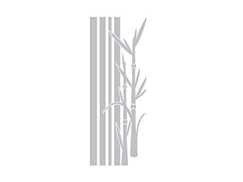 GRAZDesign Fenstertattoo Streifen mit Bambus, Pflanzen, Fensteraufkleber für Badezimmer, Duschtür Aufkleber / 79x30cm