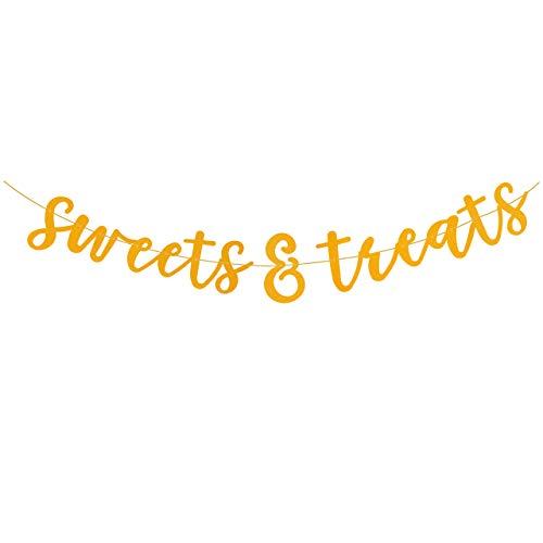 Sweets & Treats Party Banner for Any Celebration! Beautiful Party Decoration for Sweets and Dessert Area - Bachelorette Party, Wedding, Engagement Party, Baby Shower, Birthday Party
