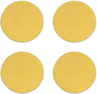 Stainless Steel Coasters Heat-Resistance Placemat Cup Mats Coffee Mug Drink Coasters (Circle Shape, Gold, Set of 4)