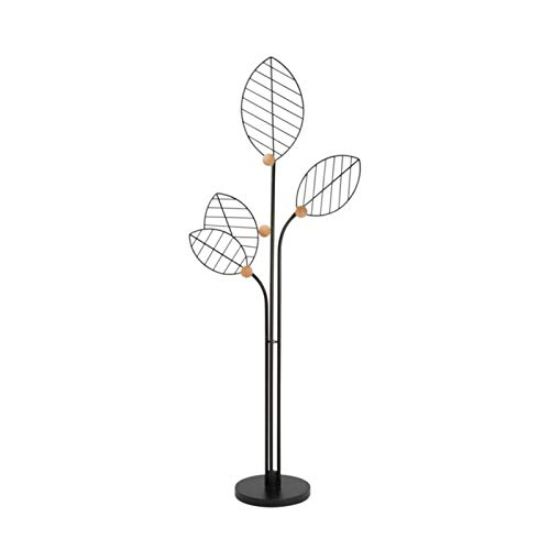 Perchero de Pie Hierro Arte Coat Rack Nordic Creative Branch Forma Plaza de suspensión Piso de pie Ropa Colgante Rack Dormitorio Dormitorio Estante Perchero para Abrigos (Color : Black)