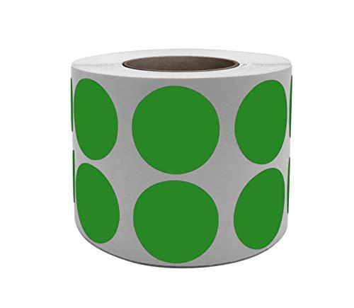 Royal Green Adesivi Rotondi Multiuso Colore Verde 19mm - Etichette Colorate Scrivibili da 1,9cm in Rotolo - Confezione Nastro da 1050 Pezzi