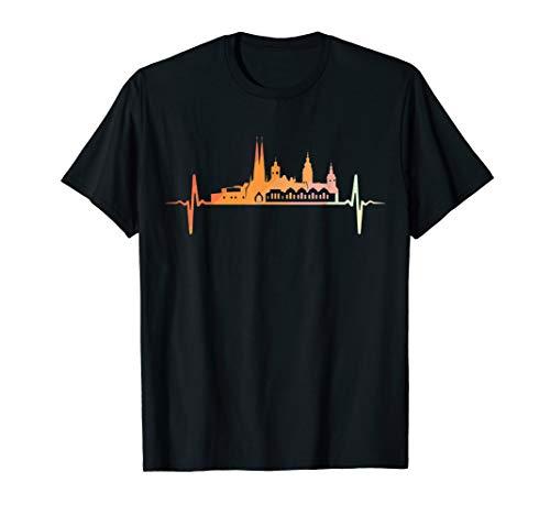 Chemnitz Skyline Herzschlag Retro Vintage Stil T-Shirt