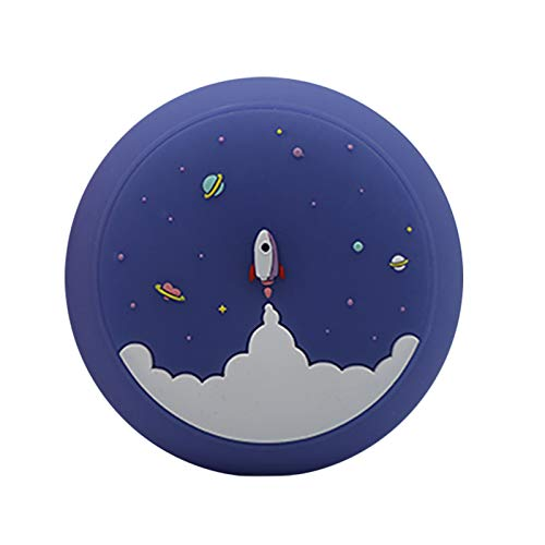 Round Rocket Space Night Light,Cute LED Night Lights Lamp Rechargeable for Children Kids Baby Nursery Toddler Newborn Bedroom Bedside Kawaii Girls Room Decor Gifts