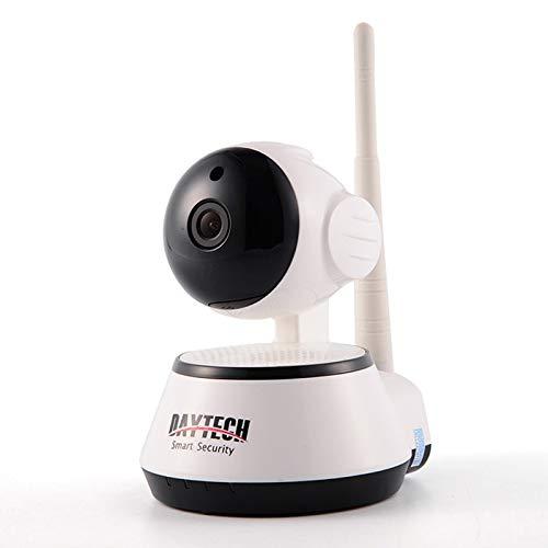 Camaras De Vigilancia Daytech 1080P Cámara IP Inalámbrica Vigilancia Doméstica Cámara WiFi Red CCTV Baby Monitor De Dos Vías Audio IR Night Vision Pan Tilt Blanco