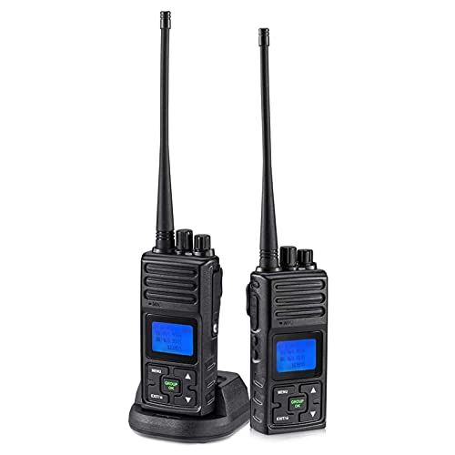 SAMCOM 5W 2 Way Radio Long Range Rechargeable, Walkie Talkies for Adults, 20 Channels Programmable Business Hand-held UHF Radio, for Outdoor Hiking School(2 Pack)