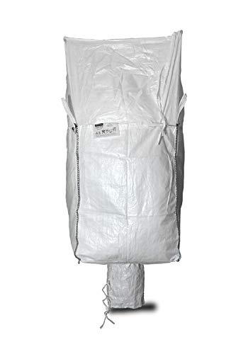 Big Bag 90 x 90 x 115 cm, mit Schürze und Auslauf und Cornerloops, SWL 1.500 kg