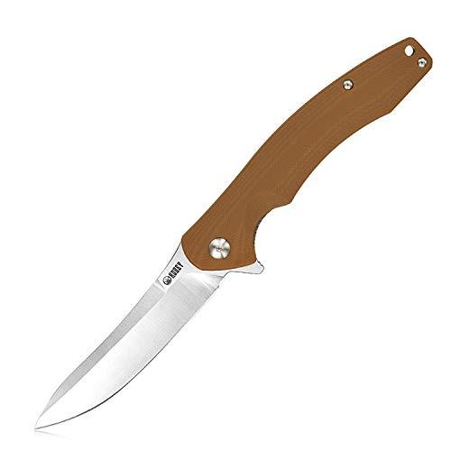 KUBEY Couteau Pliant KU176 Couteau de Poche avec Lame en Acier D2 et Manche G10, Choix idéal pour Les Randonnées Pédestres EDC et Gift