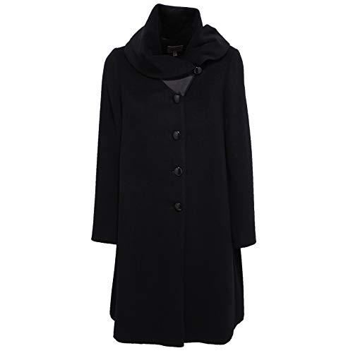 Armani 7910X Cappotto Donna Black Collezioni Wool/Cashmere Coat Jacket Woman [38]
