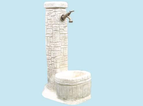 PEBSHOP Fontana in Granulato di Pietra 32x42xH73 cm. Peso 28 kg.