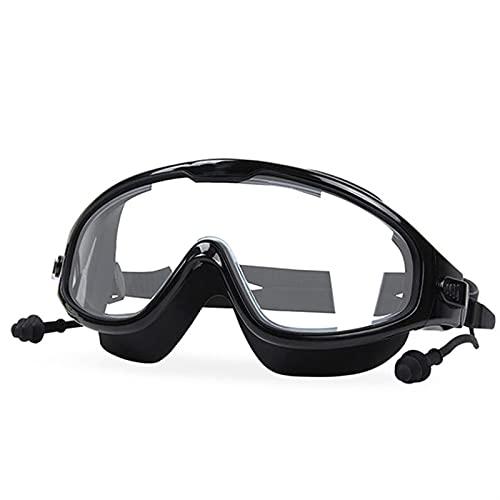 YWSZY Gafas Natacion, Hombres y Mujeres Ajustables Electroplastantes Anti-Ultravioleta Gafas Impermeables Anti-Niebla Gafas de natación (Color : Negro)