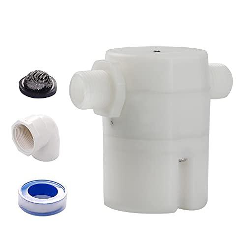 """1/2""""Válvula de flotador , la caja de control de nivel de agua es una versión mejorada de la válvula de flotador tradicional, utilizada en piscinas, tanques de ganado, acuicultura, acuarios (JYN-15)"""