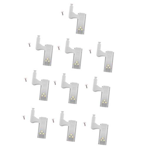 Fenteer 10 Pezzi LED Sotto L'armadio Della Lampada Dell'armadio Della Lampada Dell'armadio Della Lampada Della Lampada di Illuminazione Della Striscia