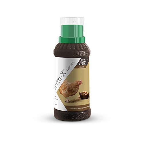 Verm-X Flüssig für Geflügel, 250 ml. Statt chemischer Wurmkur für Hühner, Gänse, Enten, usw. eine natürliche Kontrolle innerer Parasiten mit der bewährten Verm-X Kräuter-Rezeptur. - 6