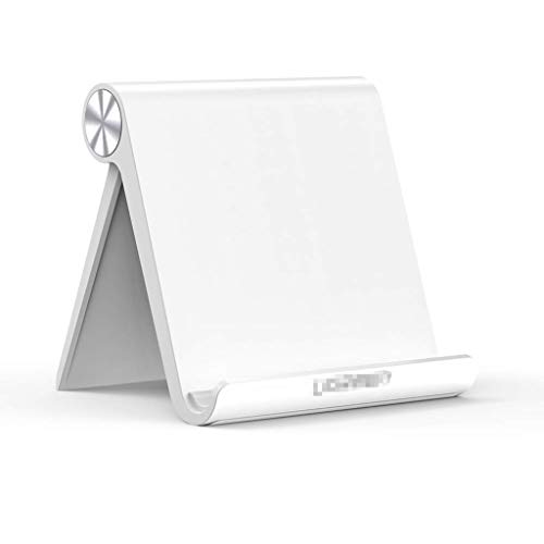 Laptop Stand Adjustable Folding Laptop Stand Tablet Stand Holder Adjustable Compatible for IPad 10.2 2019, IPad Pro 11 Inch 2020, IPad 9.7 2018, IPad Mini (Color : White)