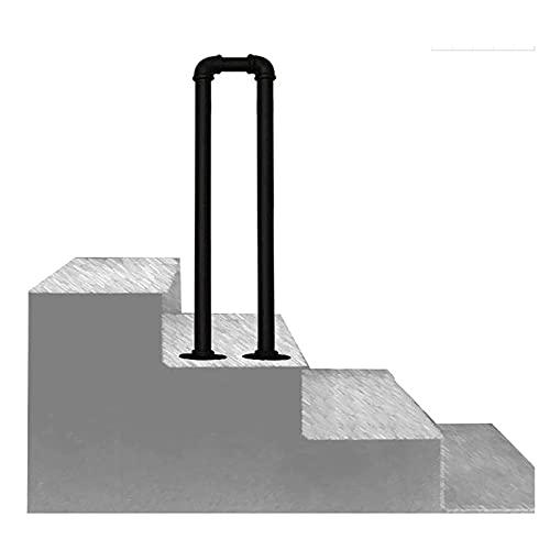Escalera de mano, barandilla de rieles, barra de soporte de seguridad para jardín, pasillo, villa, loft, para interiores y exteriores, para niños mayores, 1 paquete (75 cm / 2,5 pies)