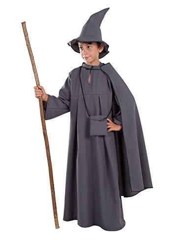 DISBACANAL Disfraz de Mago Gris para niño - -, 12 años