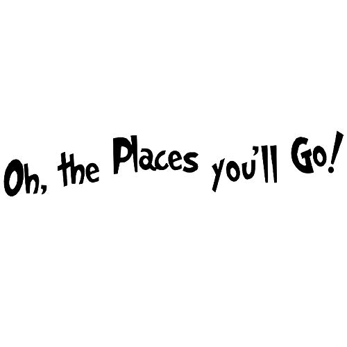 DNVEN 35 inches x 6 inches DIY Oh The Places Youll Go Quotes Wall Decals Stickers Removable Vinyl Arts for Childrens Day Bedrooms Family Playrooms Classrooms