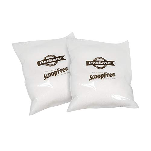 PetSafe ScoopFree Sensitive Crystal Cat Litter, Pack of 2, 10 LBS, White
