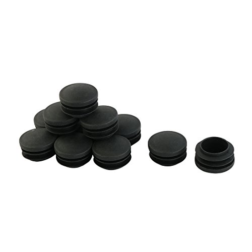 Sourcingmap® 35mm Od. rund Schwarz Plastik Abdeckkappen Ende Kappen Rohr Einsatz 12 Stücke DE de