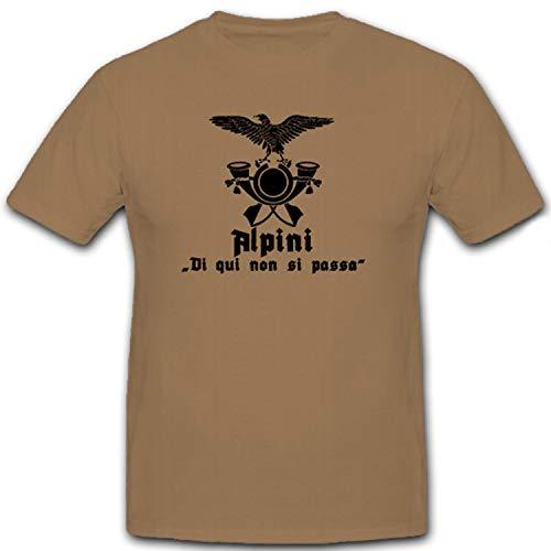 Fregio alpini Wappen Abzeichen Emblem Adler Gebirgsjäger - T Shirt #12297, Größe:XL, Farbe:Sand