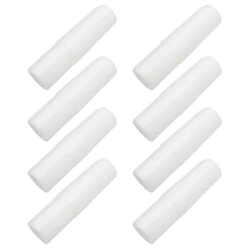Cabilock 24 Stück Bettlakenhalter für Bettlaken, feste Clips für Bettmatratzen und Bettlaken 6.5 * 1.7 * 1.7cm weiß
