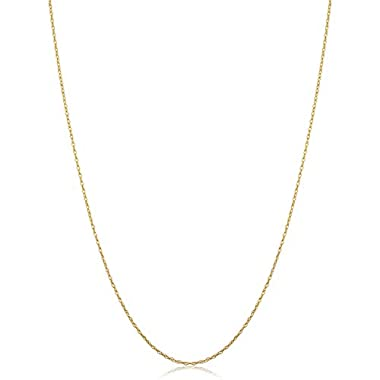 10k Yellow Gold Rope Chain Barely-there Necklace...