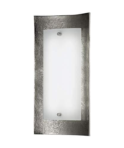 SHINE 54711 A++, Wandleuchte, Glas, nickel antik, 31 x 16 x 6,7 cm