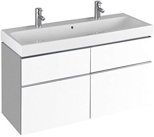 Keramag Waschbeckenunterschrank iCon 119x62cm x47,7cm Alpin Hochglanz