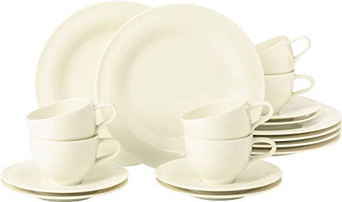 Seltmann Weiden - Medina - Kaffeeservice - Porzellan - Creme - 18-teilig