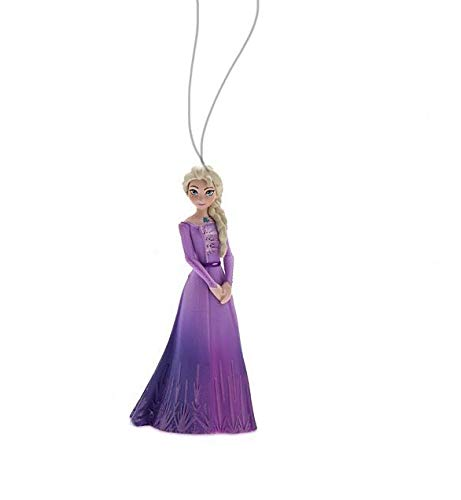 Disney Elsa Snow Queen in Purple Gown 3.5' Custom Holiday Christmas Tree Ornament PVC Figure...