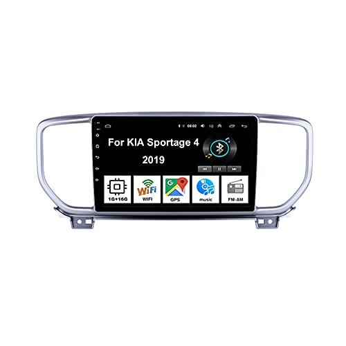 Android 10 Car Stereo 9 Pulgadas Pantalla Táctil Navegación Gps Para KIA Sportage 4 2019 Con Pantalla Coche Conecta Y Reproduce Bluetooth Multimedia FM/Am/RDS Video SWC cámara trasera