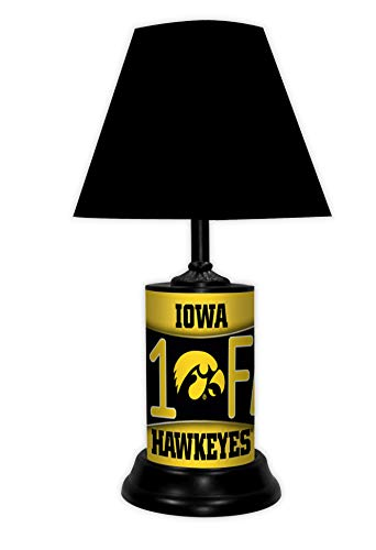 TAGZ SPORTS UNLIMITED Iowa Hawkeyes NCAA Desk/Table Lamp with Black Shade