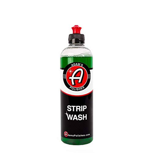 Adam's Strip Car Wash Soap - Sealant & Car Wax Remover Shampoo   Thick Suds for Use in Car Cleaning Kit, Foam Cannon, Foam Gun, Sponge, Mitt, Chamois   Safe for Paint Glass Wheel Tire Ceramic Coating