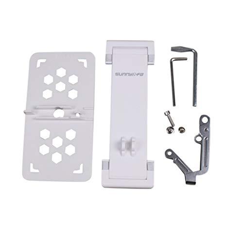 Suporte de telefone para tablet CAIfnv de metal dobrável para DJI Mavic Mini/Pro, Phantom 3 Professional, Phantom 3 Advanced, Phantom 4 RC drone controle remoto (branco)